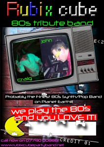 80s tribute band poster